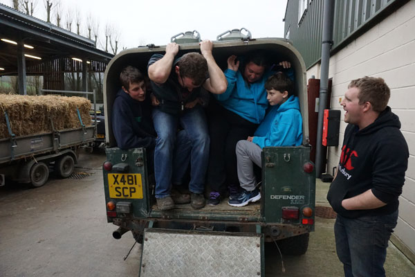How many in a Landrover?
